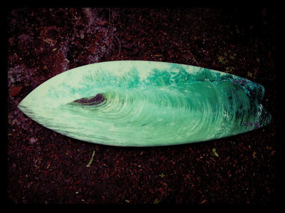 Jim Welch & Elleciel surfboards Fish Thailand wood