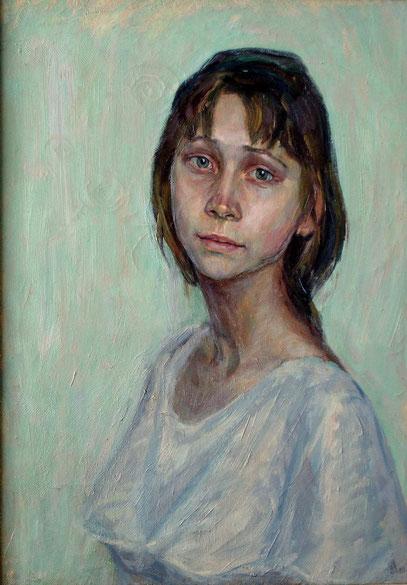 Портрет ..Алёнушка.. (живопись, холст, масло.)