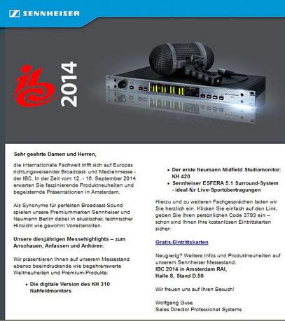Newsletter Sennheiser vom Texter aus Düsseldorf: Thomas Kadanik