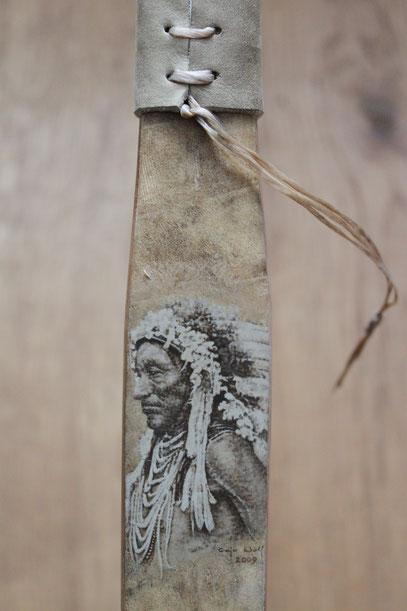 """Caja Wolf """"Indianerportrait"""""""