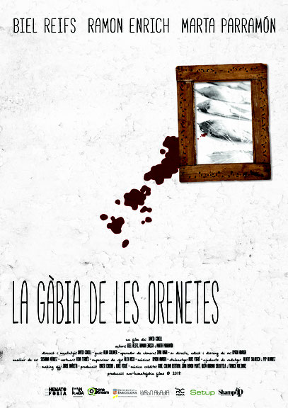 Poster de La gàbia de les orenetes creat per Nuri Viguè.