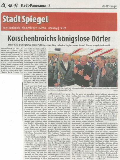 Quelle. Stadt Spiegel vom 16/10/13