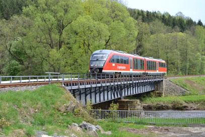 Bild: Teichler Wünschendorf Marz Erzgebirge Flöhatalbahn