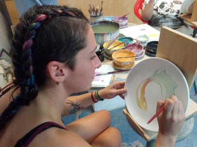 Sally Lattanzi (Cile) agosto 2018 Decorazione ceramica