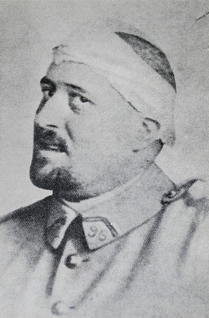 Apollinaire, blessé en 1916