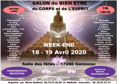 salon du bien-être du corps et de l'esprit les 18 et 19 avril 2020
