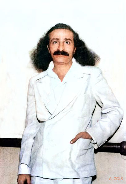 4th June, 1932 : Meher Baba on board the S.S. Monterey docked in Los Angeles harbour prior to her maiden voyage to Hawaii. Image colourized by Anthony Zois.
