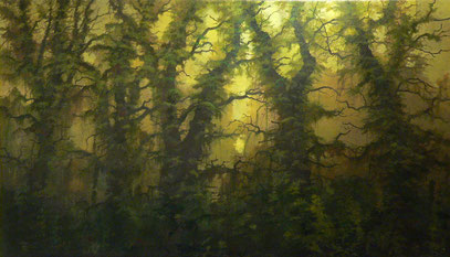 """Martin Guido Becker, """"Waldstück"""", 2011, 80/100 cm"""
