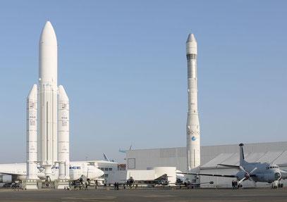 Ariane 5 und 1, Musée de l'air et de l'espace, Le Bourget
