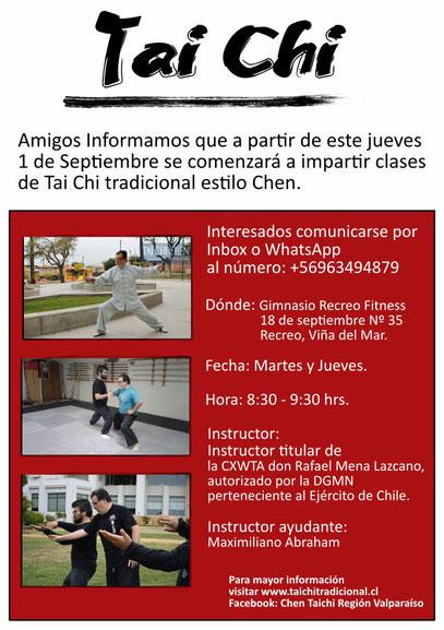 Clases de Tai Chi  de Cxwta Chile, en Viña del Mar