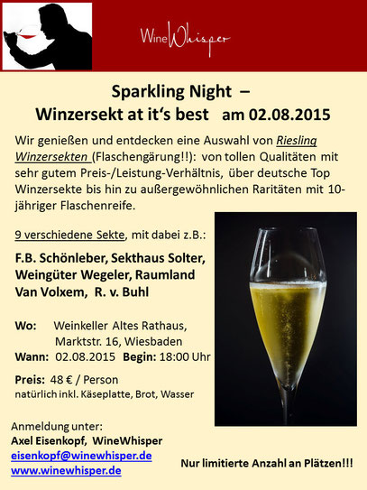 Flyer Sparkling Night - Winzersekt at its best