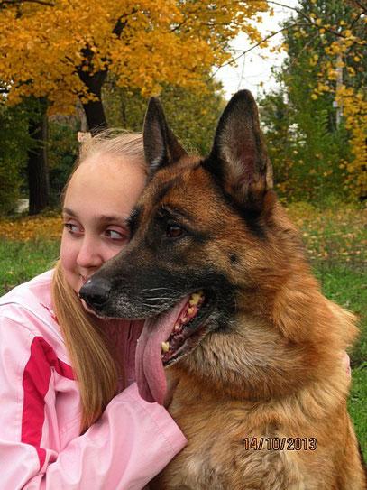 Регина с Шантой фон Нордэн (8 лет)
