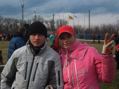 Елена Голубицкая и Дмитрий Ковалев на выставке 31.03.12.