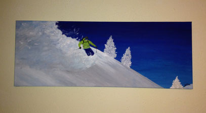 skiing - october 2012 (30x80cm)