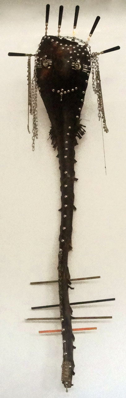 Ange sombre - Dark Angel - H 140 cm - bois tech. mixte
