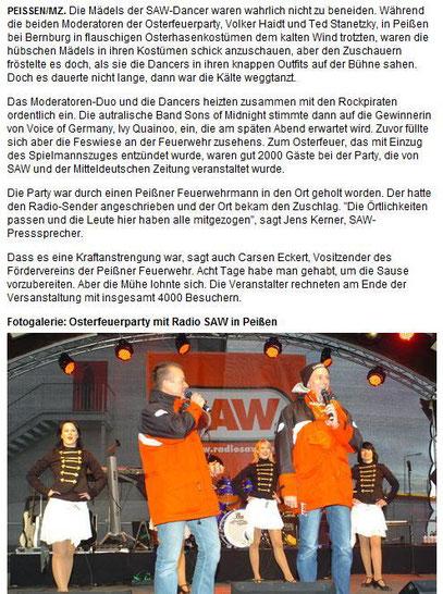 Bericht und Bilder von der Mitteldeutschen Zeitung!