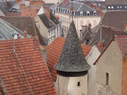 les toits de la ville vues de l'esplanade du château