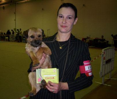 Lola en exposition canine