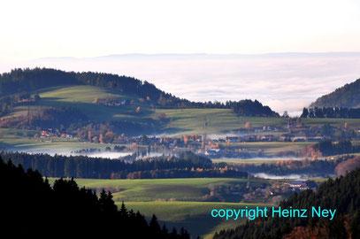 Blick nach St. Peter Schwarzwald