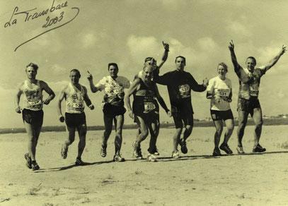De gauche à droite: Y. Germain, P. Paumier, E. Rocton, D. Taton,              M. Delahayes, O. Verdière, C. Sement et P. Sement