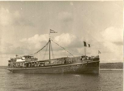 "Postfrachtschiff  ""Telegraaf IV."" 1928"