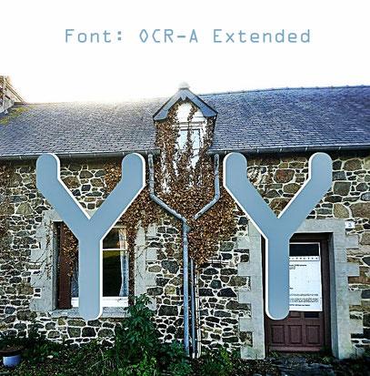 OCR-A mit bretonischem Haus