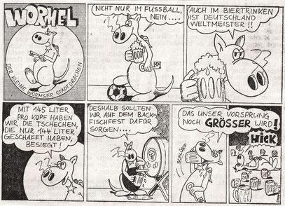 17.08.1974__    Damals durfte Wormel in der Öffentlichkeit noch saufen bis zum Umfallen. Heute würde dieser Wormelstrip von der Zeitung nicht mehr gedruckt werden - dazu noch auf der Jugendseite!!!
