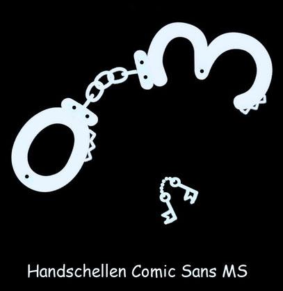 Handschellen Comic Sans MS