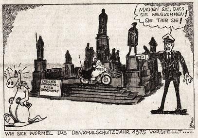 15./16. 03. 1975, Karikatur auf der Lokalseite