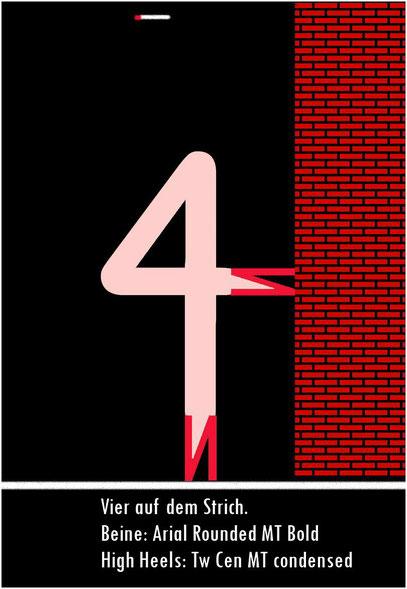 4 auf dem Strich