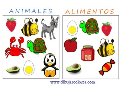 cartel para trabajar  animales y alimentos
