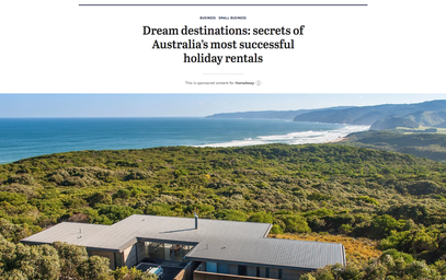 The Sydney Morning Herald: Dream destinations: secrets of Australia's most successful holiday rentals