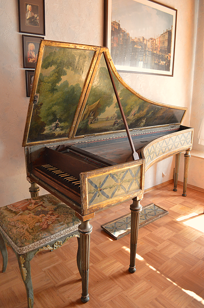 Italian Harpsichord  ca.1630-1660, Pooya Radbon Collection