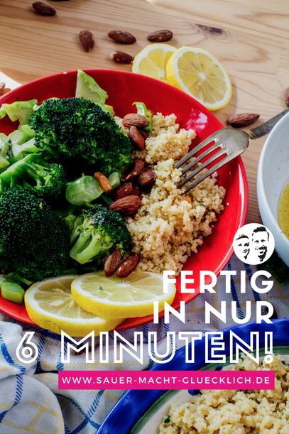 Leckerer Brokkoli Salat mit Couscous - sättigend, gesund und erfrischend anders!