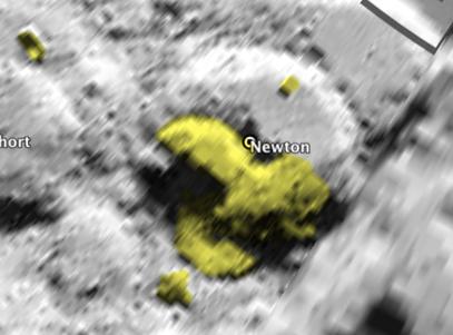Lune structures artificielles exotiques dans le crat re for Jardin lune octobre 2015