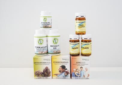 Diese und mehr Nahrungsergänzungsmittel erhält man bei Bioresonanz Monika in Weiz