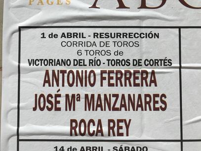 Antonio Ferrera JM Manzanares Roca Rey Victoriano del Rio