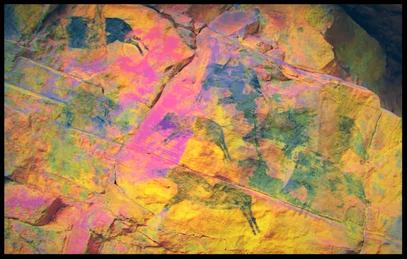 Villafranca del Cid (Castellón) han encontrado en un abrigo pinturas rupestres de 7.000 años