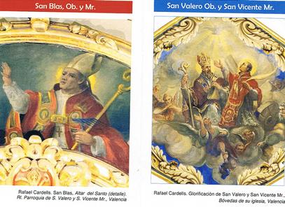 El obispo San Valero y su diácono San Vicente Mártir sufrieron persecución en Valencia, entre el 303 y comienzos del 304.