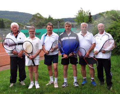v.l. Eberhard Dierschke, Adolf Zerr, Harald Leikauf, Hugo Hassel, Alfred Reinelt, Josef Breunig
