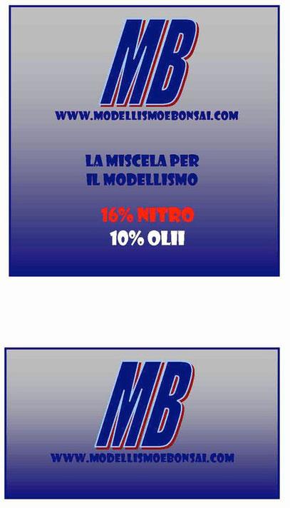 LA NUOVA MISCELA PER IL MODELLISMO  16% e 25 %
