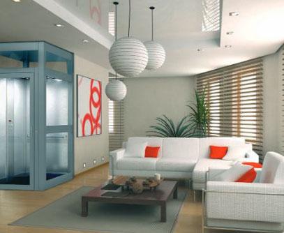 Formschöner Senkrechtlift für ein barrierefreies Zuhause