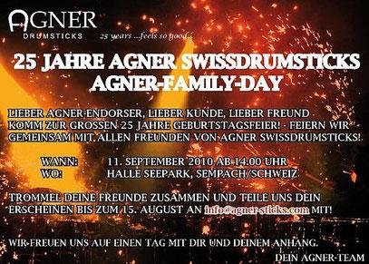 25 JAHRE AGNER - Einladung nach Sempach