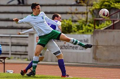 Nico Beck feierte mit dem TSV Amicitia Viernheim einen verdienten 3:0-Sieg gegen Durlach-Aue
