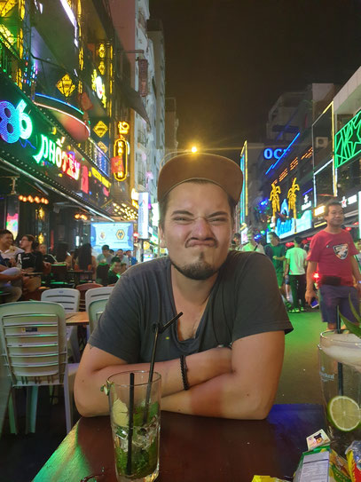 Happy in Bui Vien Saigon HCMC Vietnam