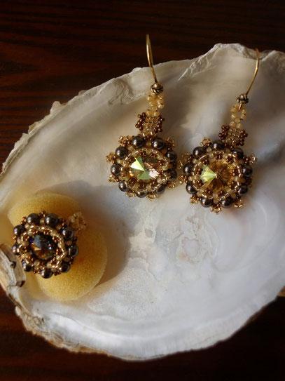 Als Set - Ohrringe und Ring