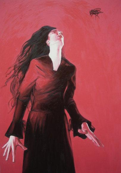 """""""GRIDO D'ARTISTA"""",olio su tela,70 cm x 100 cm"""