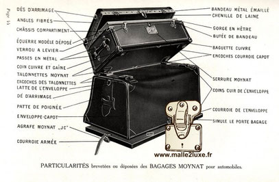 malle ancienne automobile luxe moynat