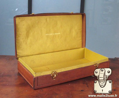 luxury leather and silk trunk case