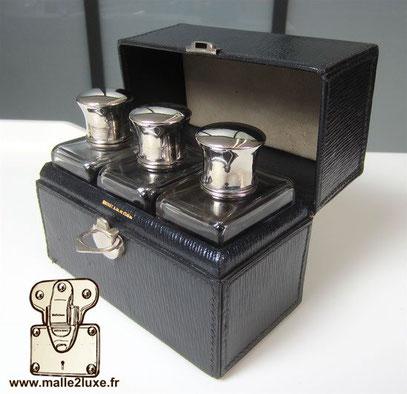 leather case with moynat bottle